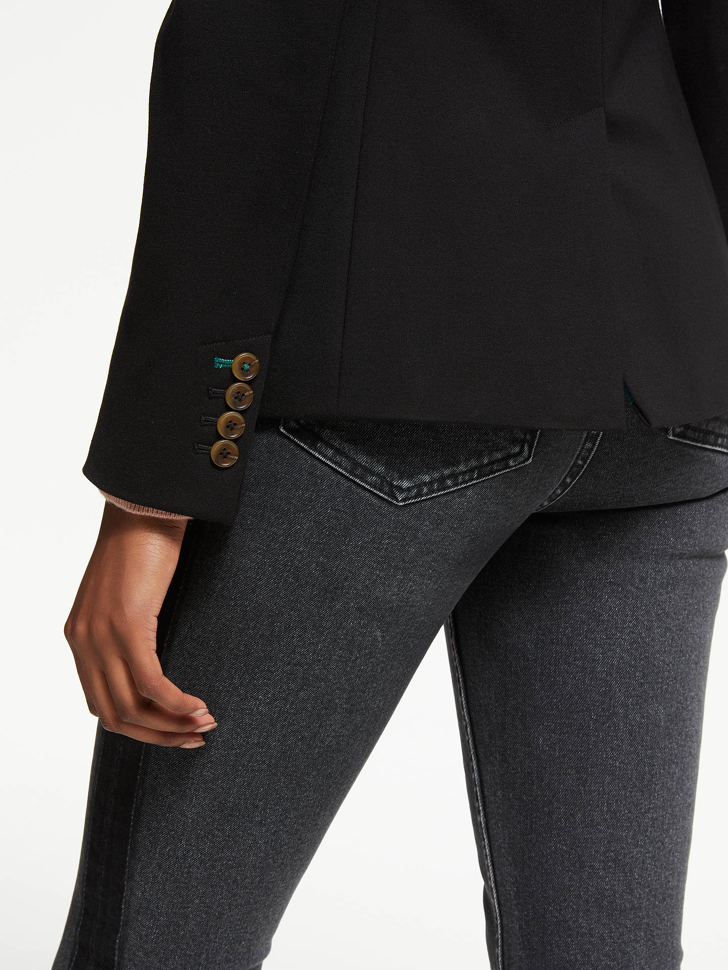 BuyBoden Nell Ponte Blazer, Black, 10 Online at johnlewis.com