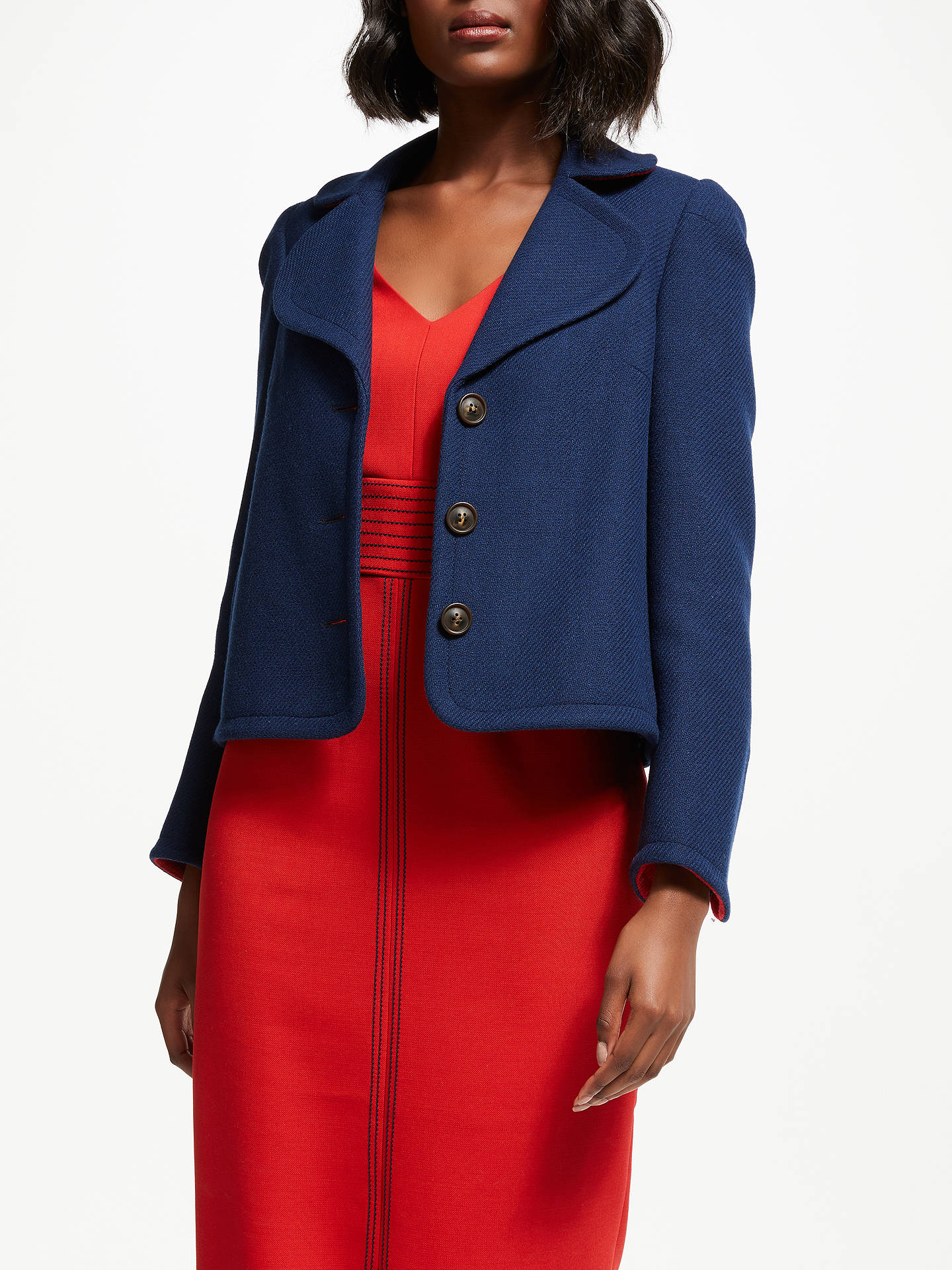 BuyBoden Horsell Jacket, Navy, 10 Online at johnlewis.com