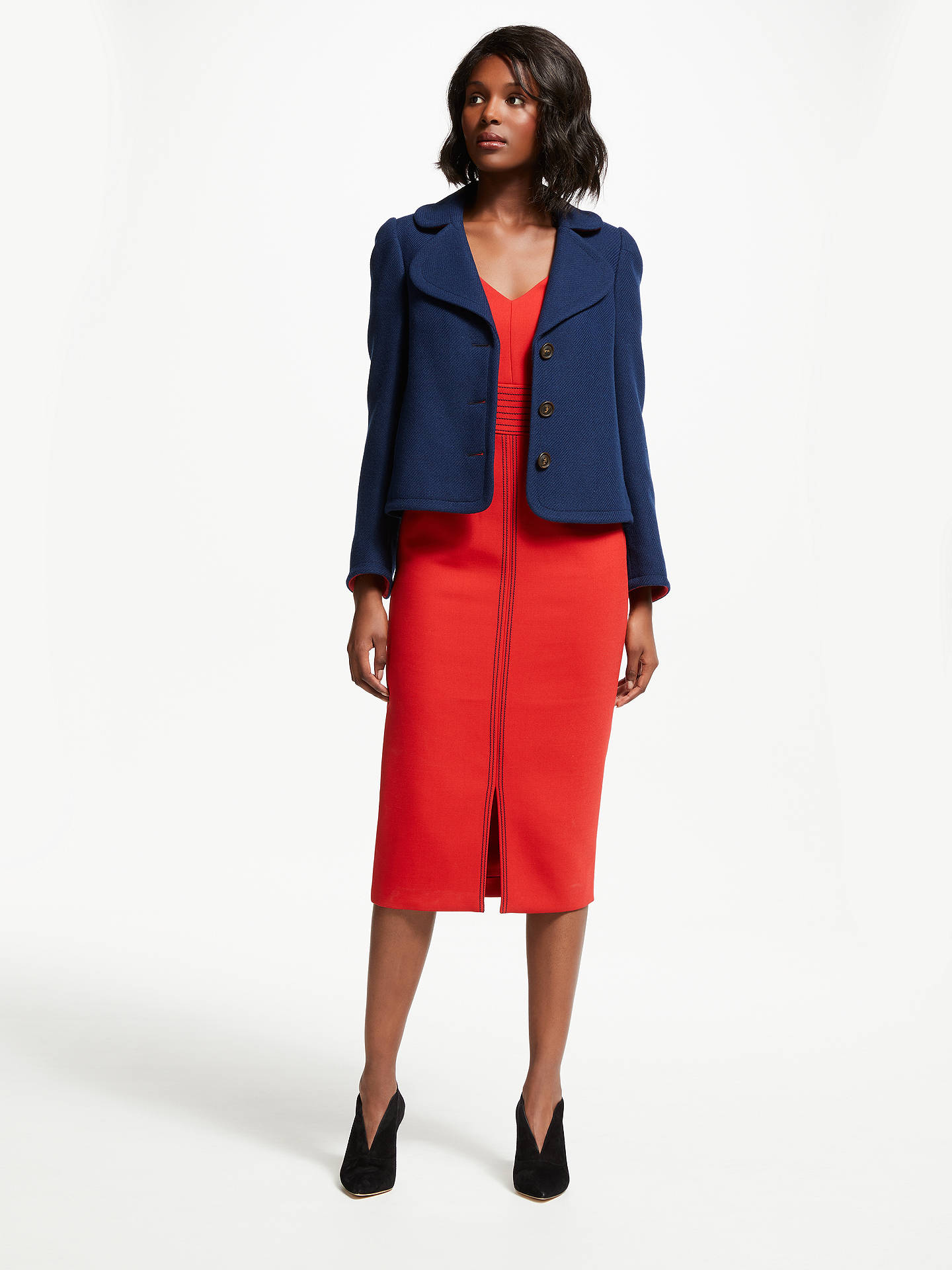 Buy Boden Horsell Jacket, Navy, 10 Online at johnlewis.com