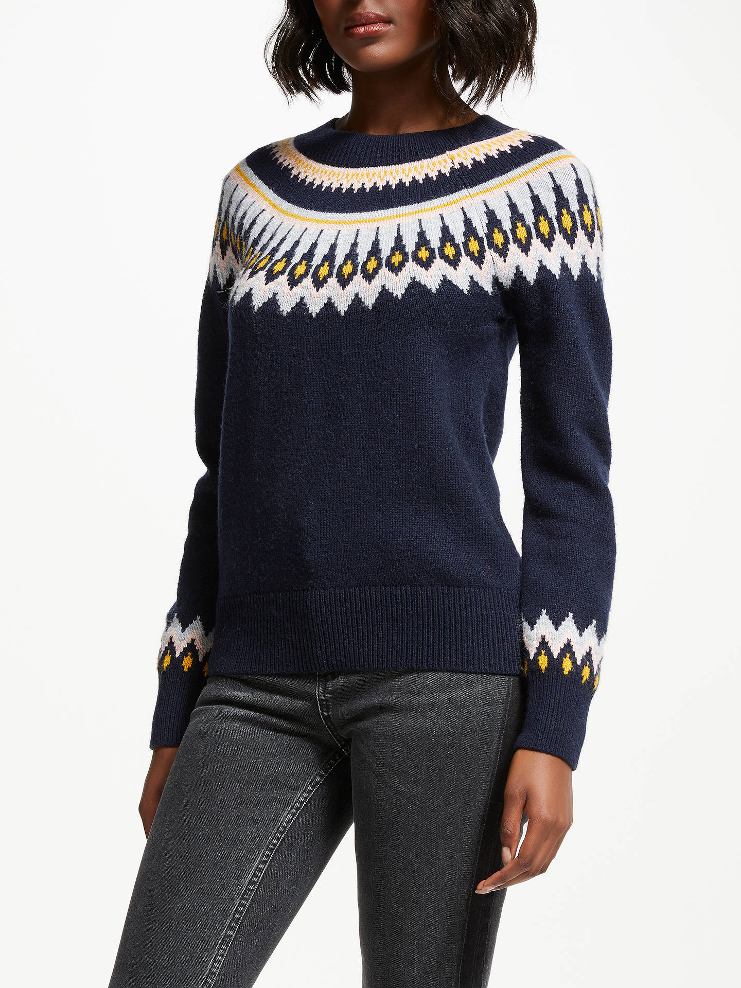 Boden Agnes Fair Isle Jumper at John Lewis & Partners