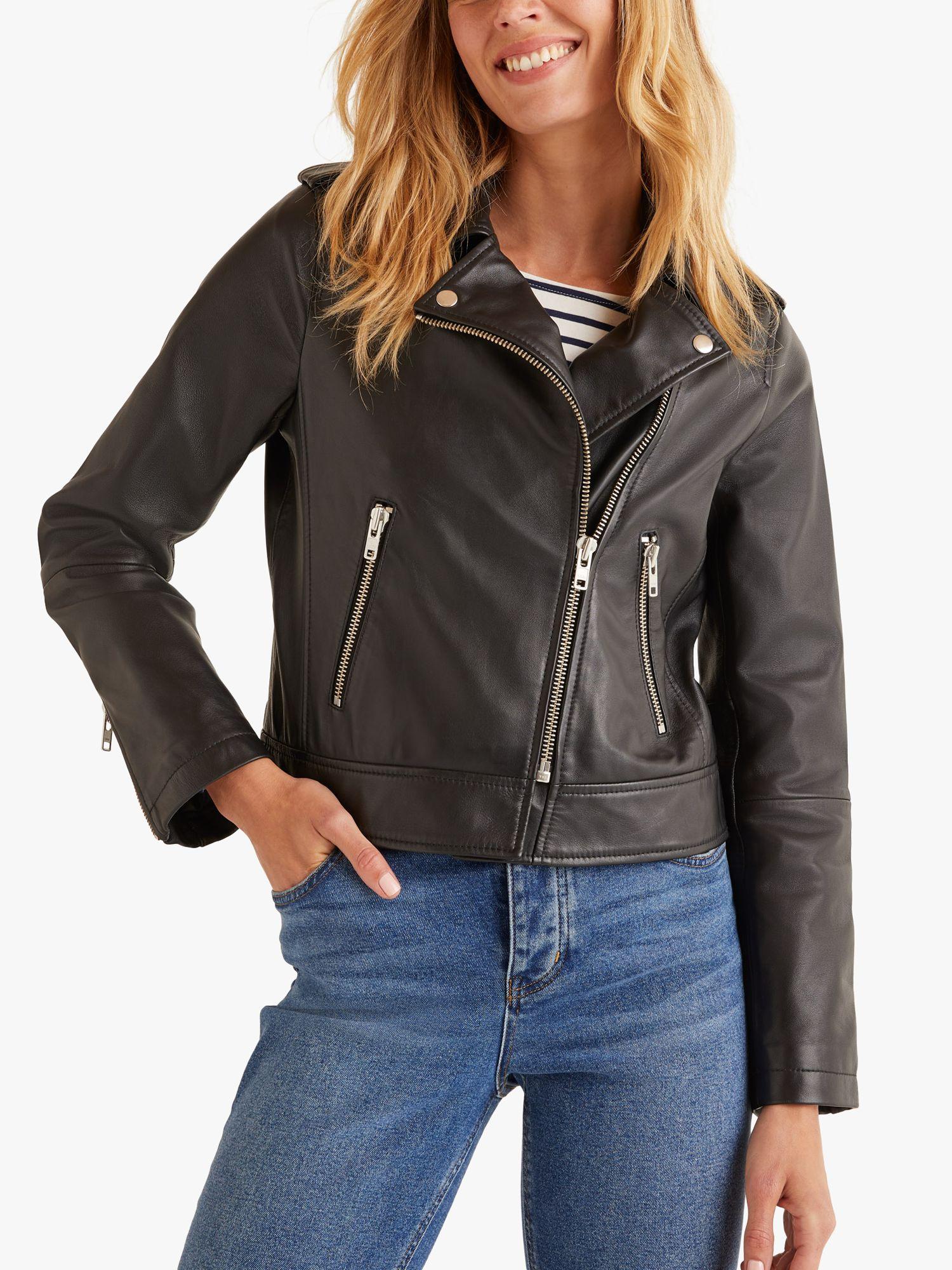 Boden Boden Morleigh Leather Jacket, Black