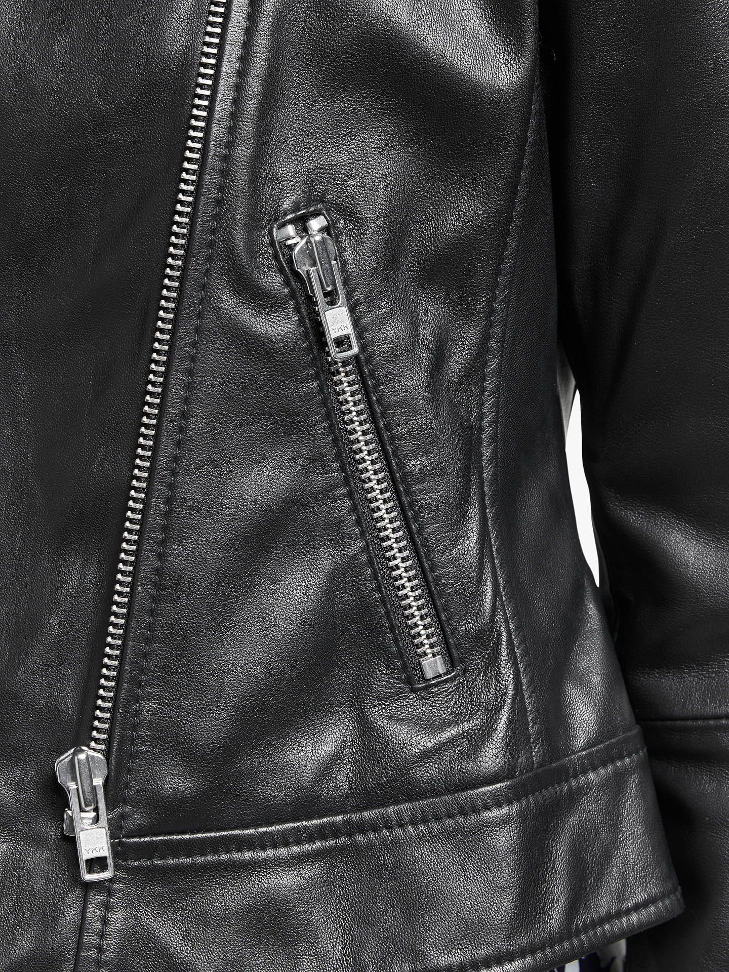 BuyBoden Morleigh Leather Jacket, Black, 8 Online at johnlewis.com