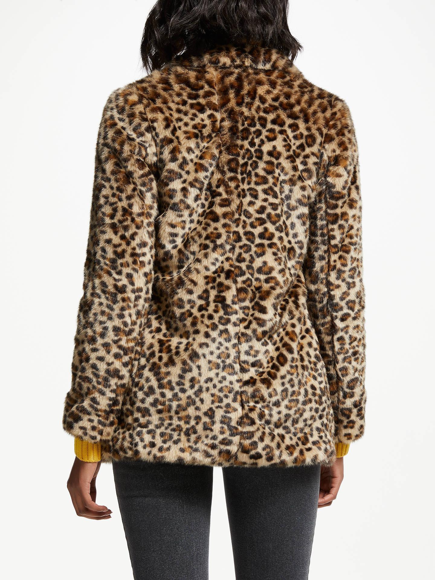 Boden Boxgrove Faux Fur Coat Leopard Faux Fur At John Lewis Partners
