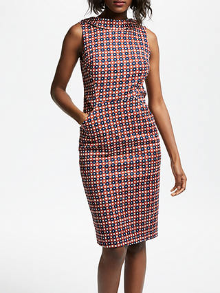 Buy Boden Martha Dress, Conker Trellis, 12 Online at johnlewis.com