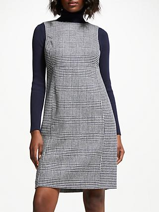 Boden Rosie Tweed Dress, Navy and Ivory