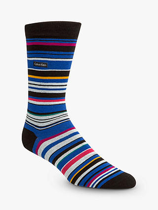 Buy Calvin Klein Stripe Socks, One Size, Blue/Multi Online at johnlewis.com