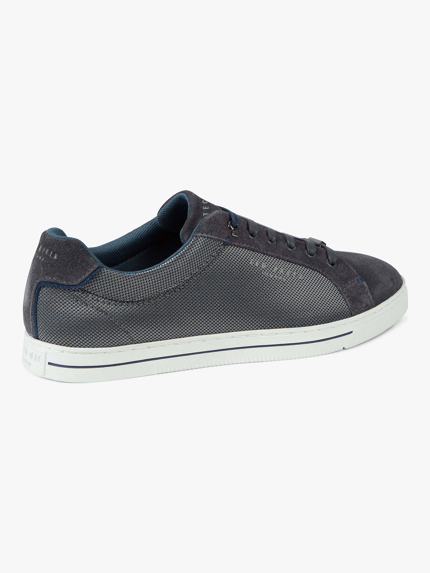 Buy Ted Baker Eeril Derby Cupsole Trainers, Grey, 7 Online at johnlewis.com