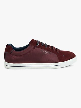 Ted Baker Eeril Derby Cupsole Trainers, Red