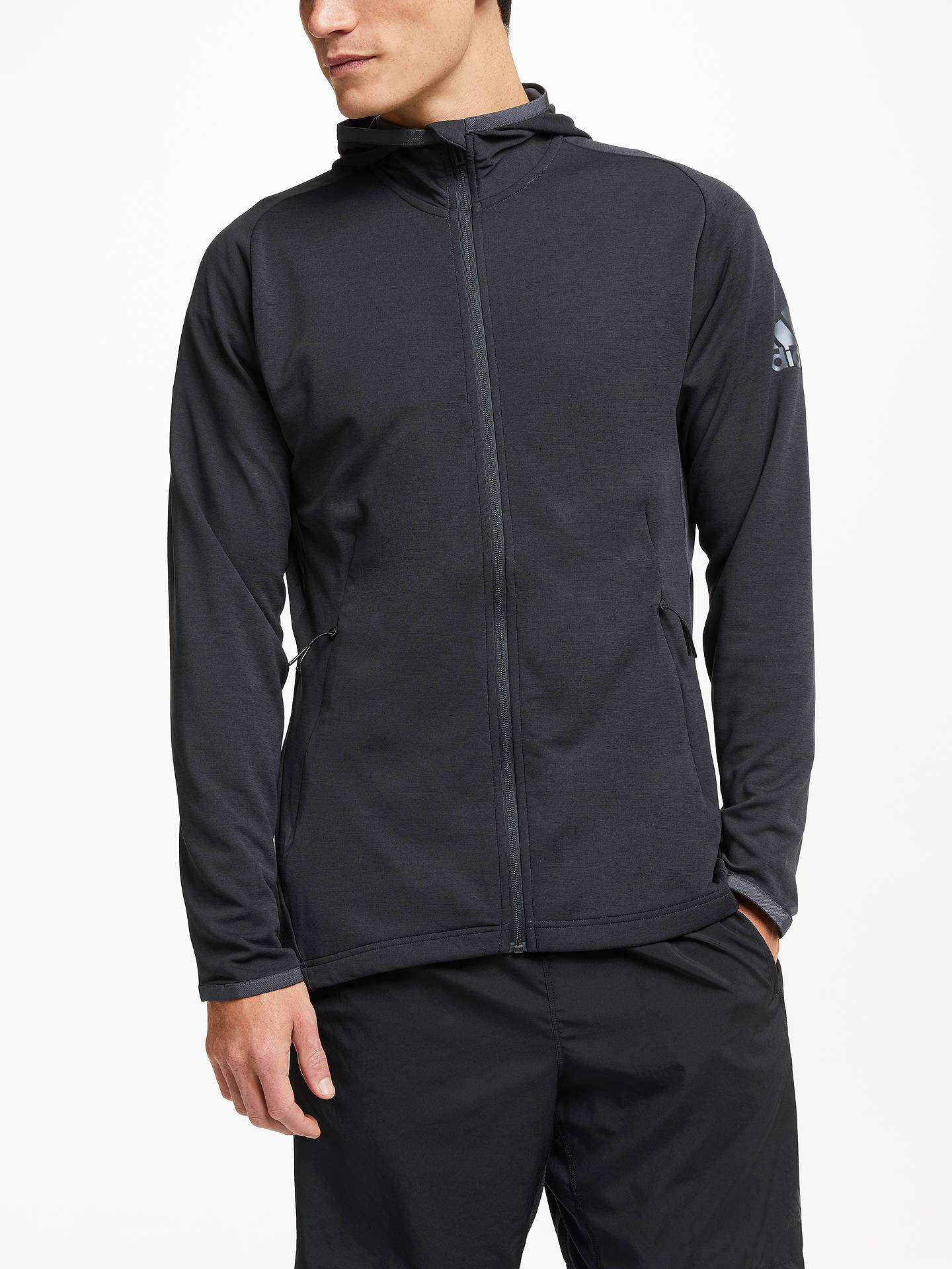 adidas Freelift Climacool Hoodie, CarbonBlack at John Lewis