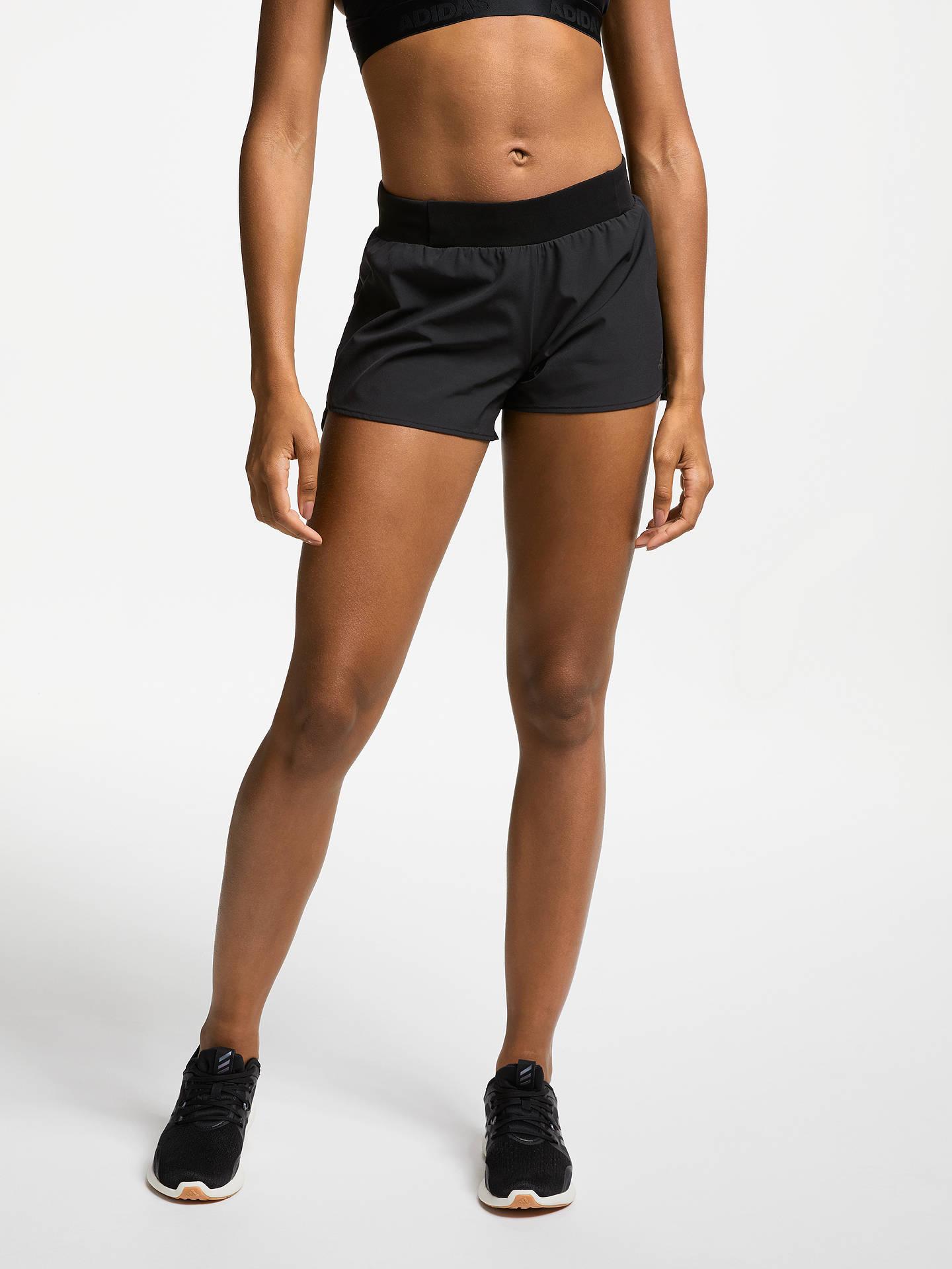 competitive price 7aba9 2f66b Buy adidas Supernova Saturday Running Shorts, Black, XS Online at  johnlewis.com ...