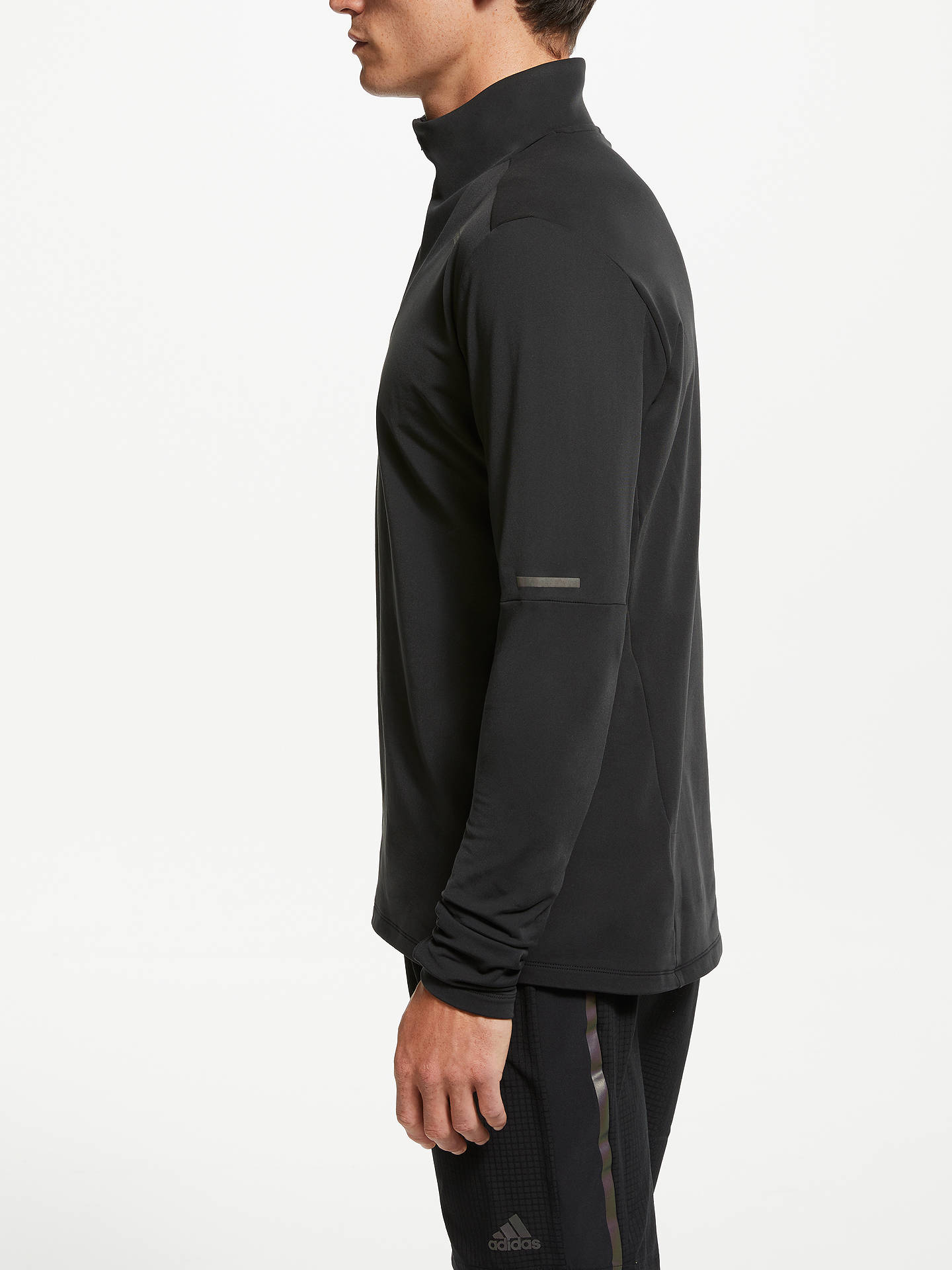 419b57ec adidas Supernova 1/4 Zip Long Sleeve Running Top at John Lewis ...