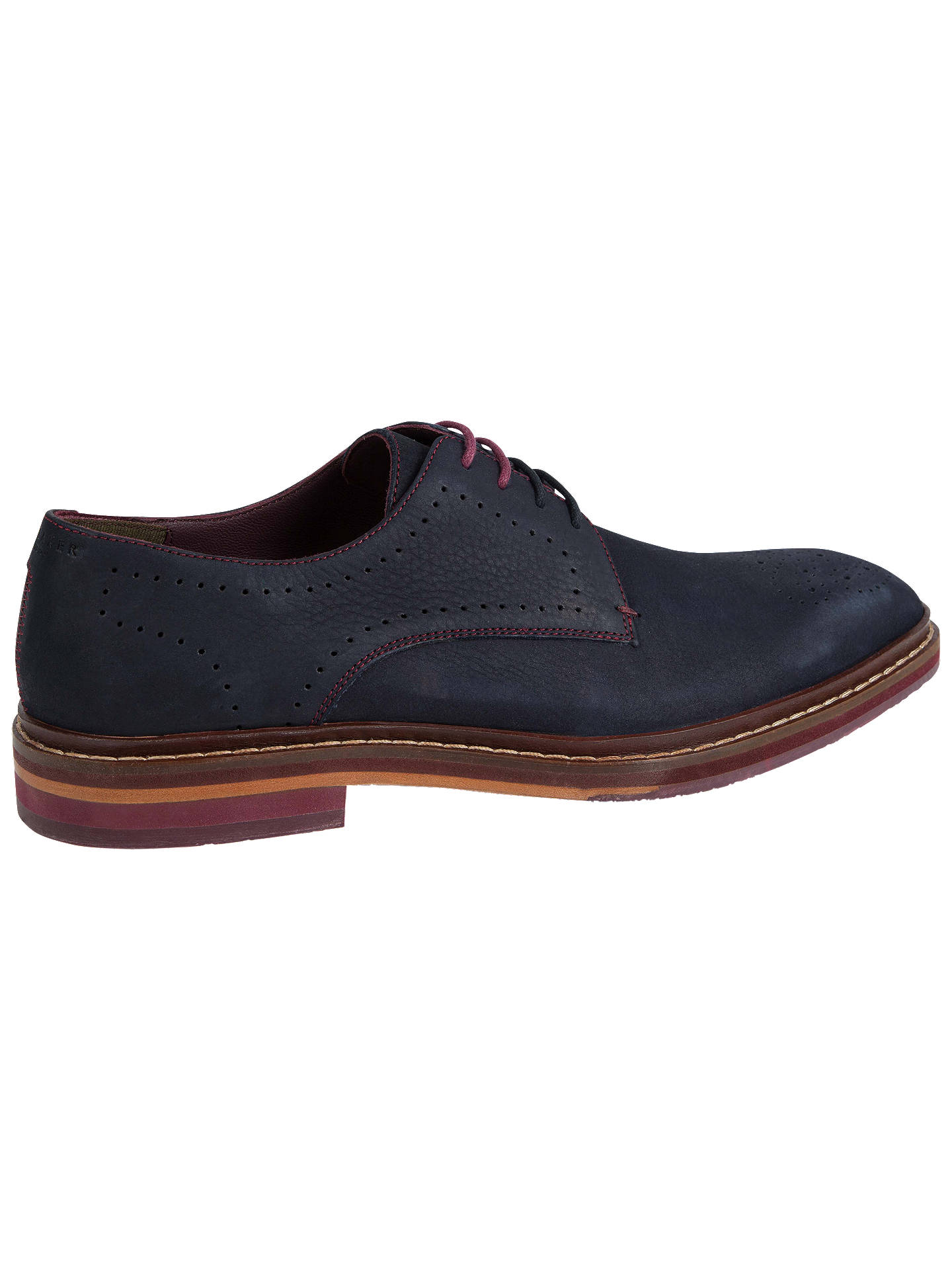 Buy Ted Baker Zigee Derby Brogues, Blue, 7 Online at johnlewis.com