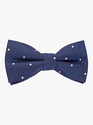 John Lewis & Partners Heirloom Collection Children's Pin Dot Bow Tie, Blue