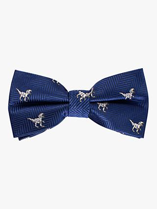 John Lewis & Partners Heirloom Collection Boys' T-Rex Bow Tie, Blue