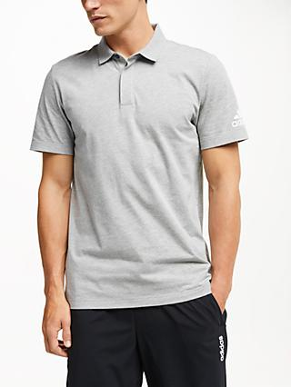 adidas Must Haves Plain Polo Shirt, Grey