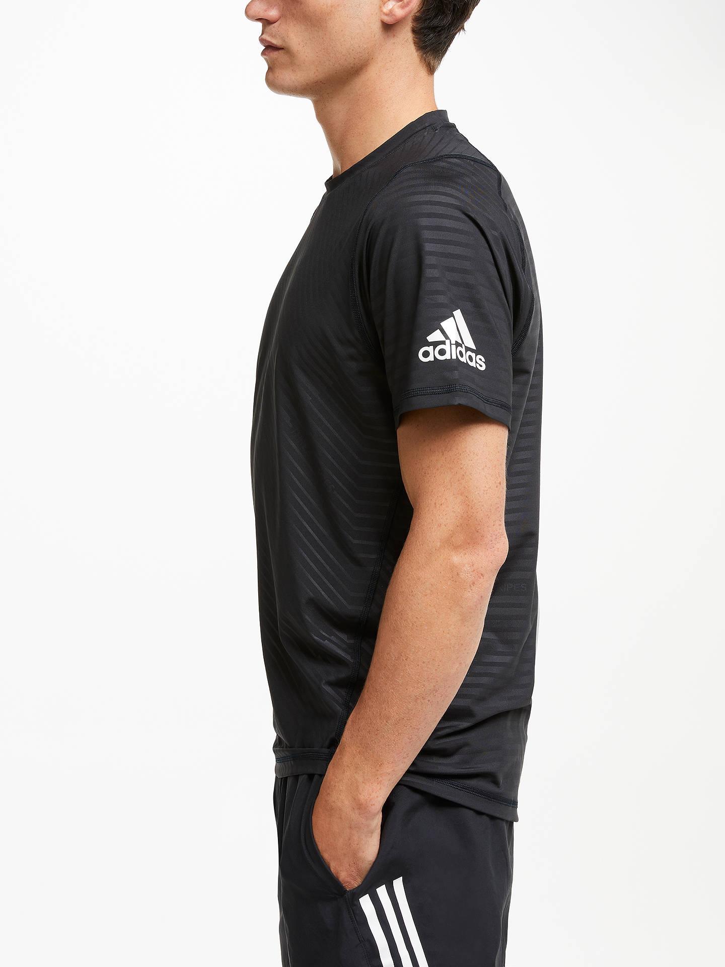 años cristiandad pegar  adidas FreeLift 360 Subtle Graphic Training T-Shirt, Black at John Lewis &  Partners