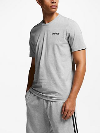 adidas Essentials Plain T-Shirt, Medium Grey Heather