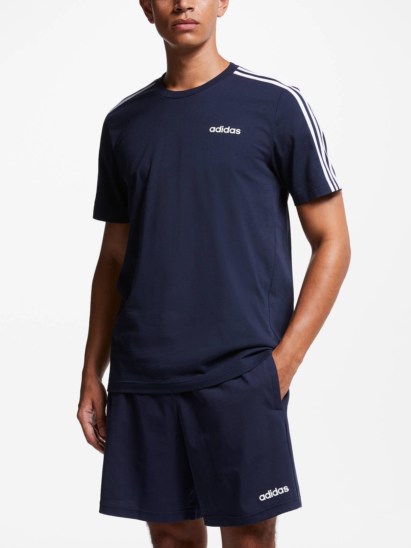 886903b4fdea7 adidas Essentials 3-Stripes T-Shirt at John Lewis   Partners