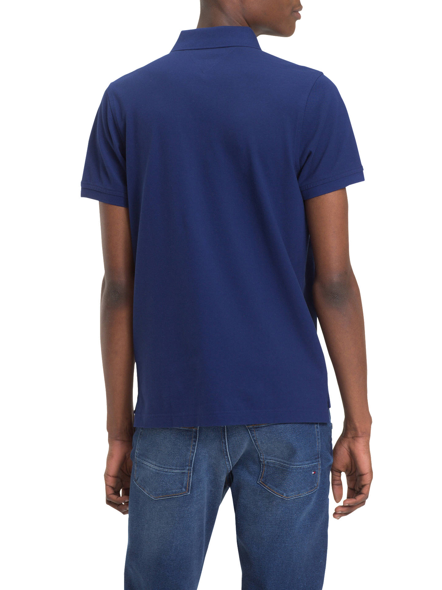 666cbfa5 ... Buy Tommy Hilfiger Slim Polo Shirt, Blue, S Online at johnlewis.com ...