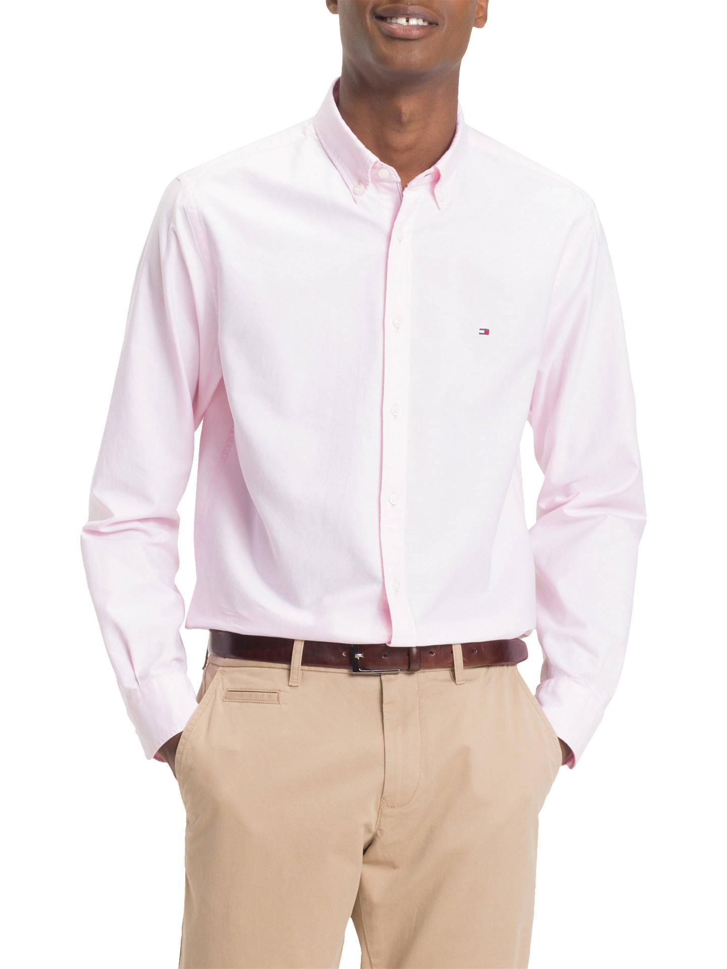 f47fc848 Buy Tommy Hilfiger Slim Oxford Shirt, Pink, S Online at johnlewis.com ...