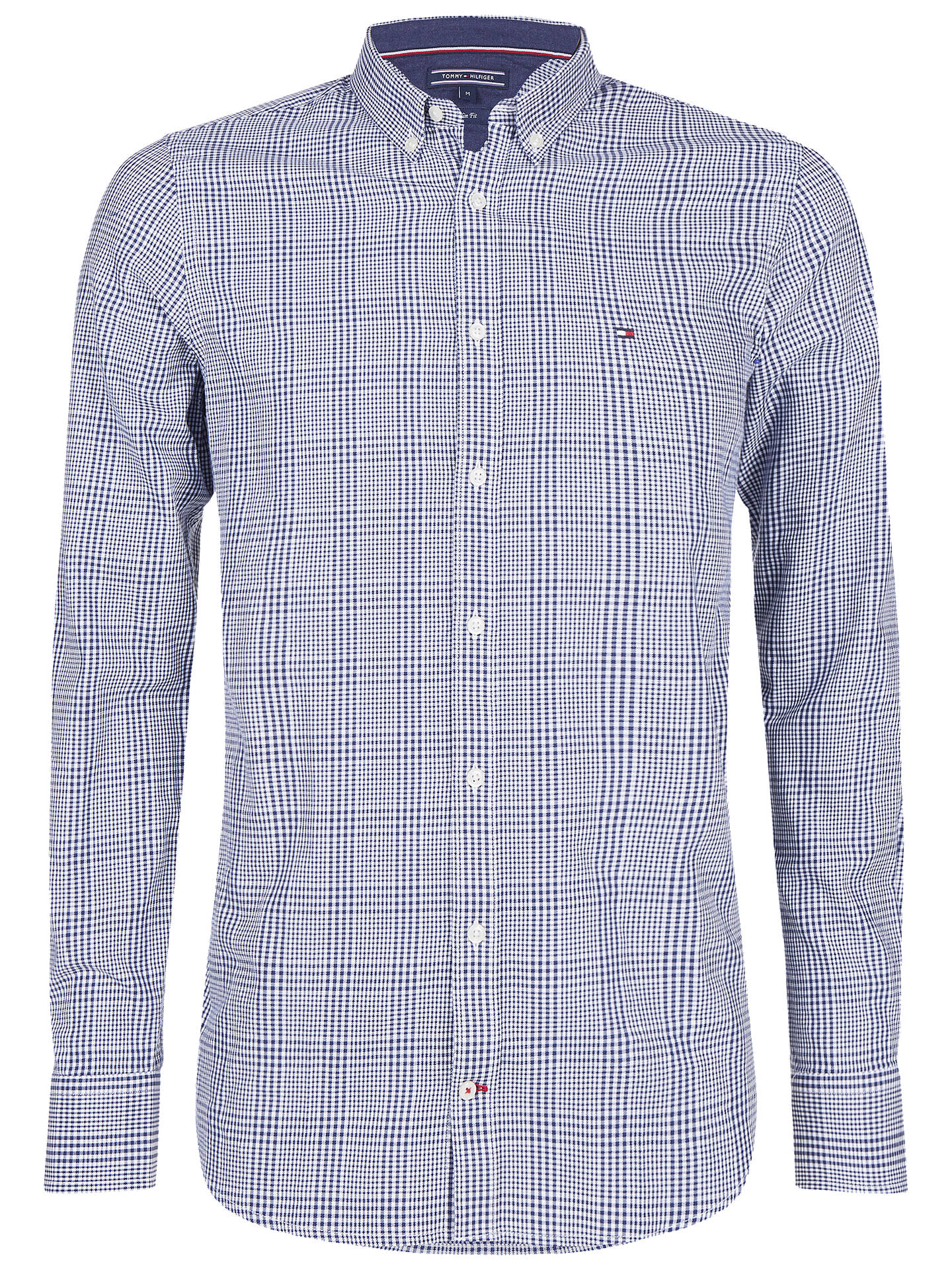 14f01ace8 Buy Tommy Hilfiger Prince of Wales Check Print Shirt, Blue Depths/Bright  White, ...