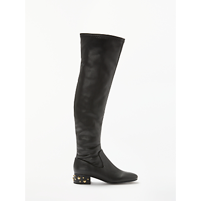 See By Chloé Knee High Block Heel Boots, Black Leather