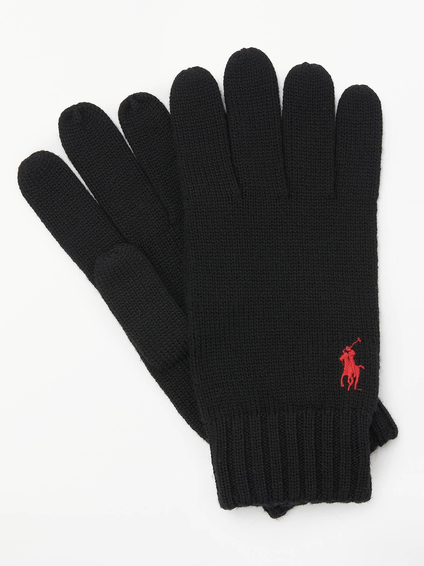 9d703f125 Polo Ralph Lauren Merino Wool Gloves, Black