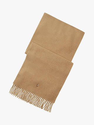 Buy Polo Ralph Lauren Virgin Wool Scarf, One Size, Peach, One Size Online at johnlewis.com