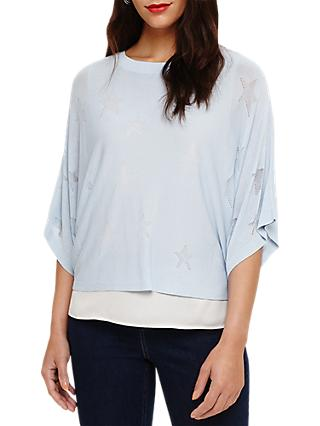 Phase Eight Star Stitch Gisella Jumper, Soft Blue