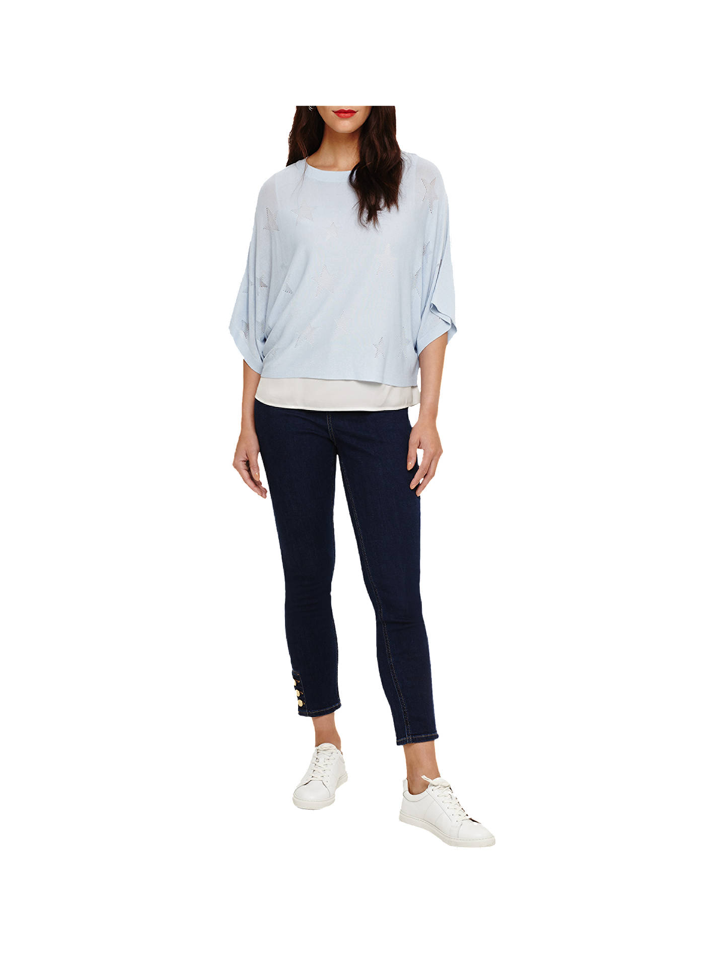 Buy Phase Eight Star Stitch Gisella Jumper, Soft Blue, 12 Online at johnlewis.com