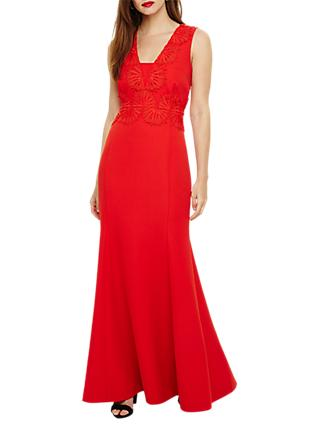 Phase Eight Avelyn Embroidery Maxi Dress, Fire