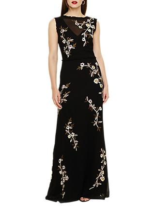 Phase Eight Abigail Floral Maxi Dress, Black