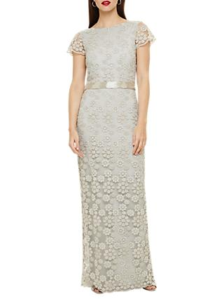 Phase Eight Cassie Embellished Maxi Dress, Silver