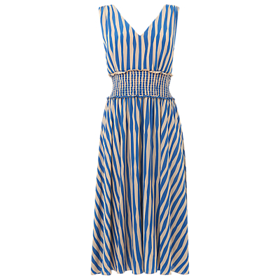 L.K.Bennett Ambery Stripe Dress, Blue