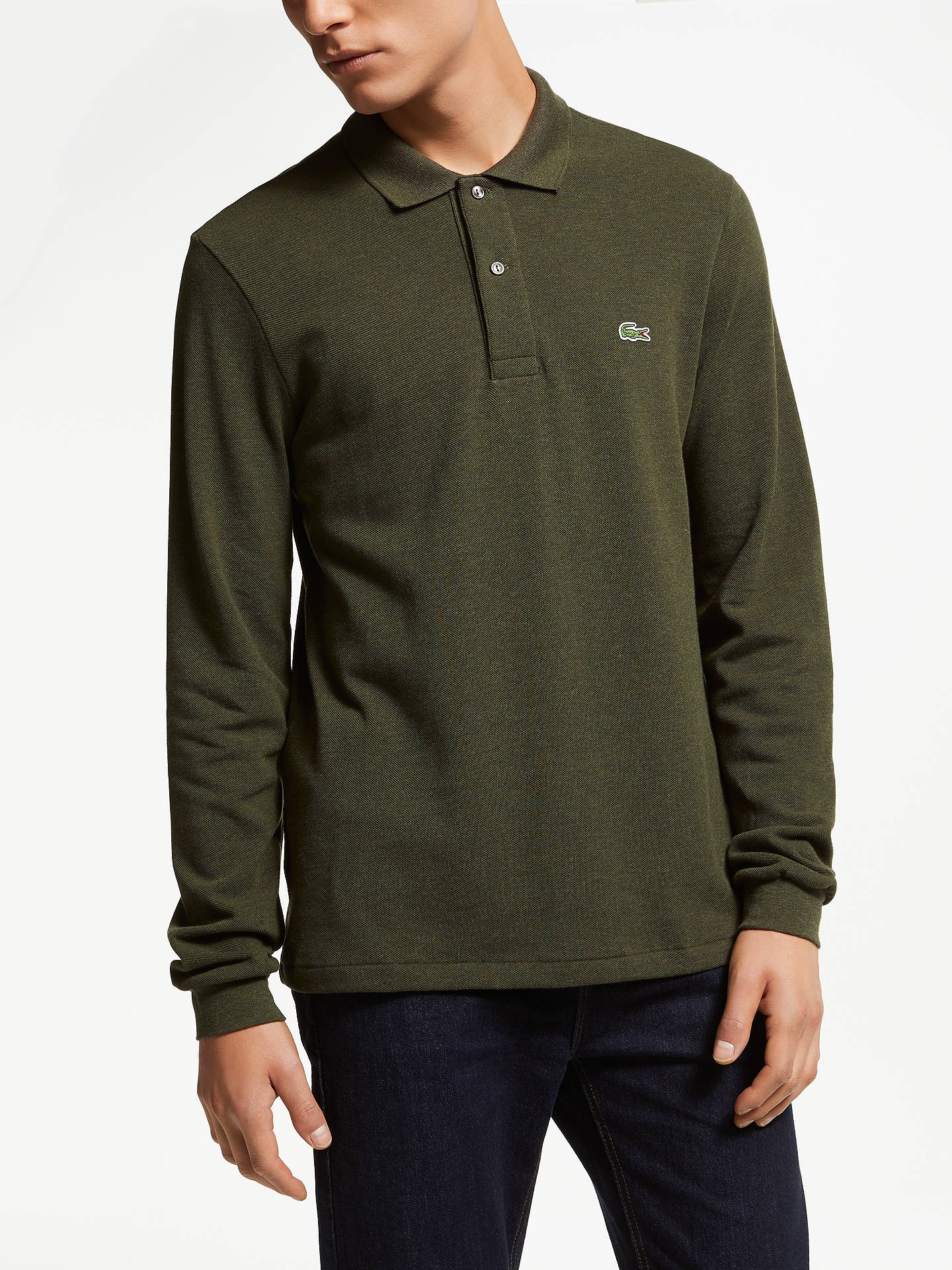 28856233907dff Buy Lacoste L.13.13 Long Sleeve Marl Polo Shirt