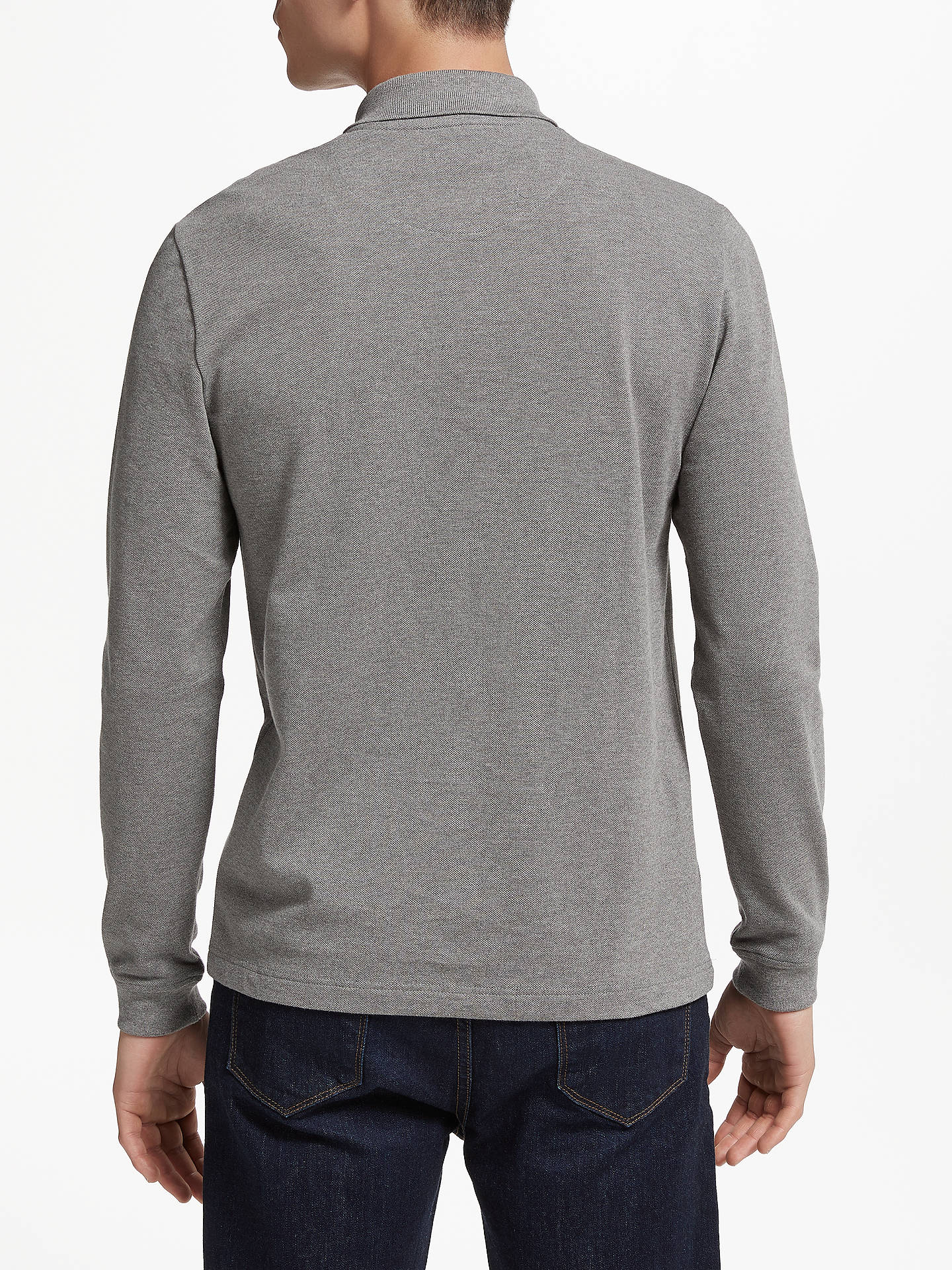 3cf6424e Lacoste Mountain Long Sleeve Polo Shirt, Grey at John Lewis & Partners