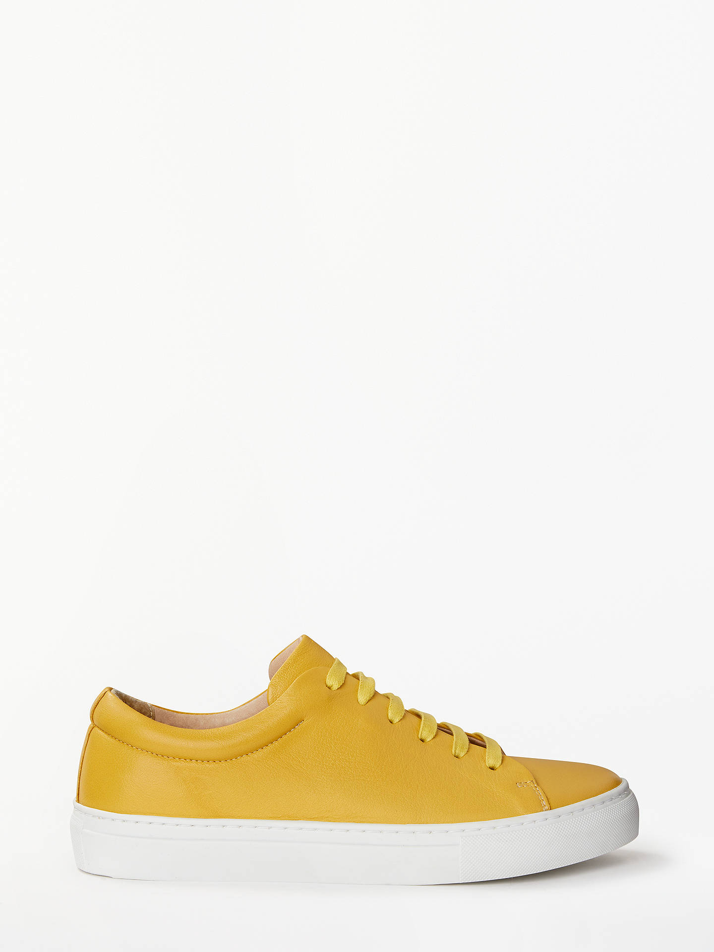 53a3fd12e Buy John Lewis & Partners Flora Lace Up Trainers, Yellow Leather, 3 Online  at ...