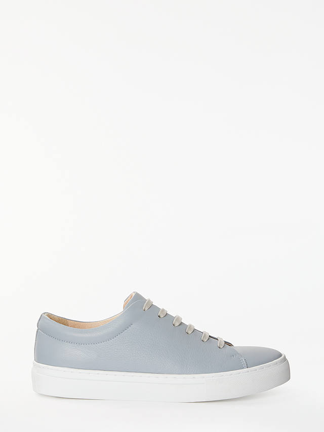 Buy John Lewis & Partners Flora Lace Up Trainers, Grey Leather, 3 Online at johnlewis.com
