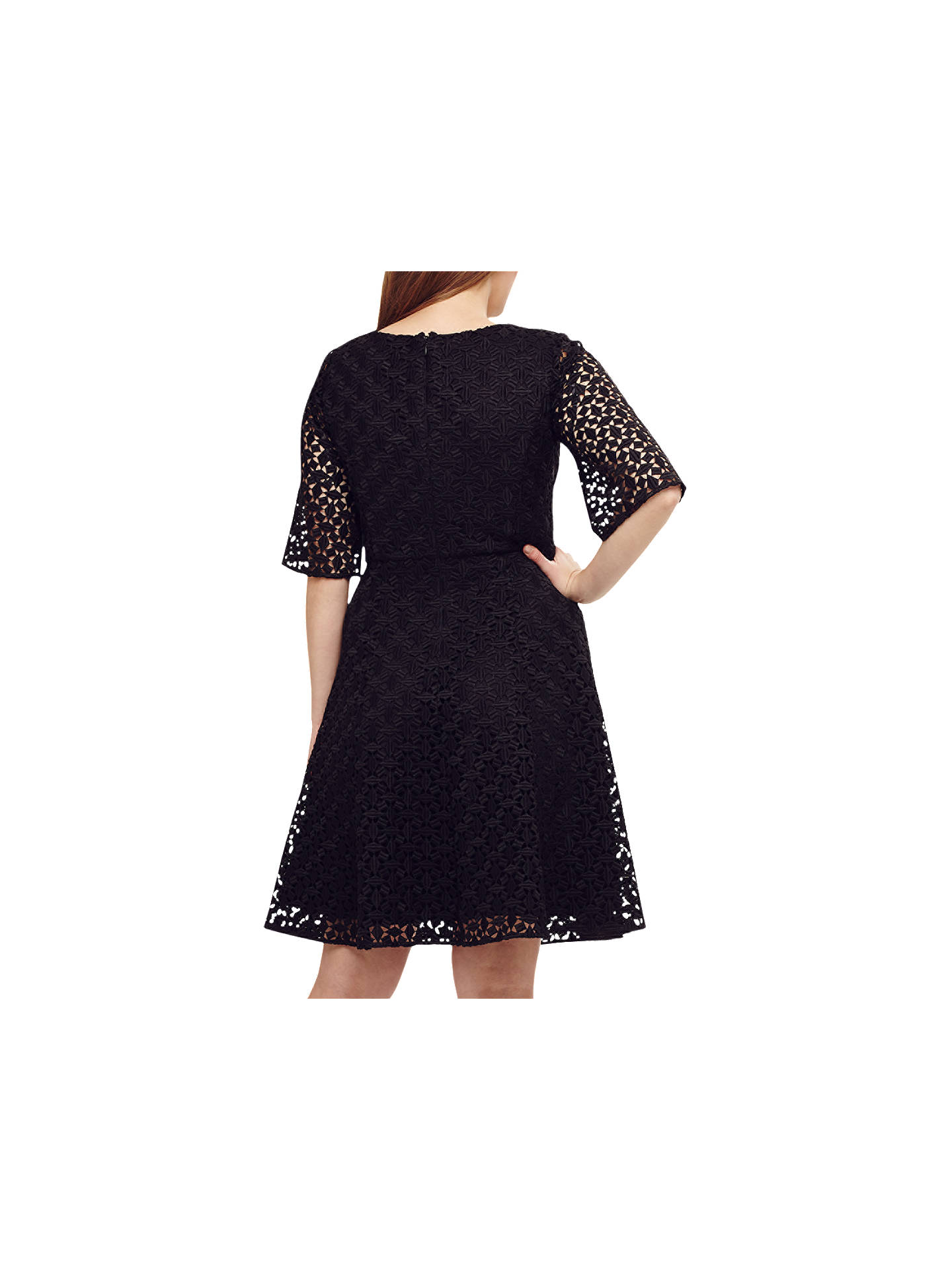 BuyStudio 8 Mary Lace Dress, Black, 16 Online at johnlewis.com