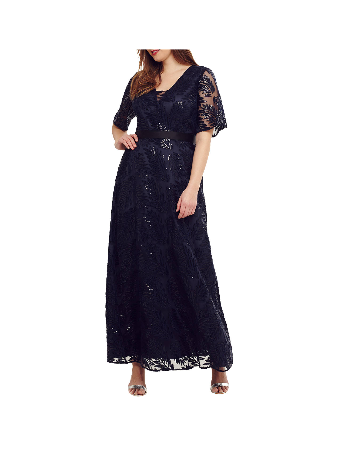 BuyStudio 8  Persephone Sequin Maxi Dress, Navy, 14 Online at johnlewis.com