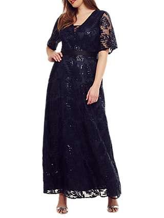 Studio 8 Persephone Sequin Maxi Dress, Navy