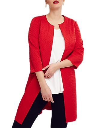 Studio 8 Isla Jacquard Jacket, Red
