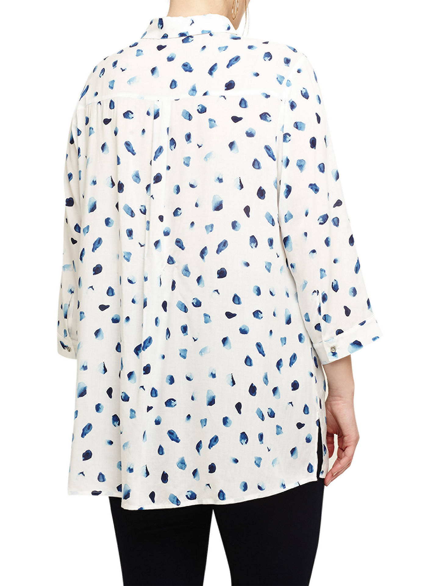 Buy Studio 8 Sarah Spot Print Blouse, White/Blue, 14 Online at johnlewis.com