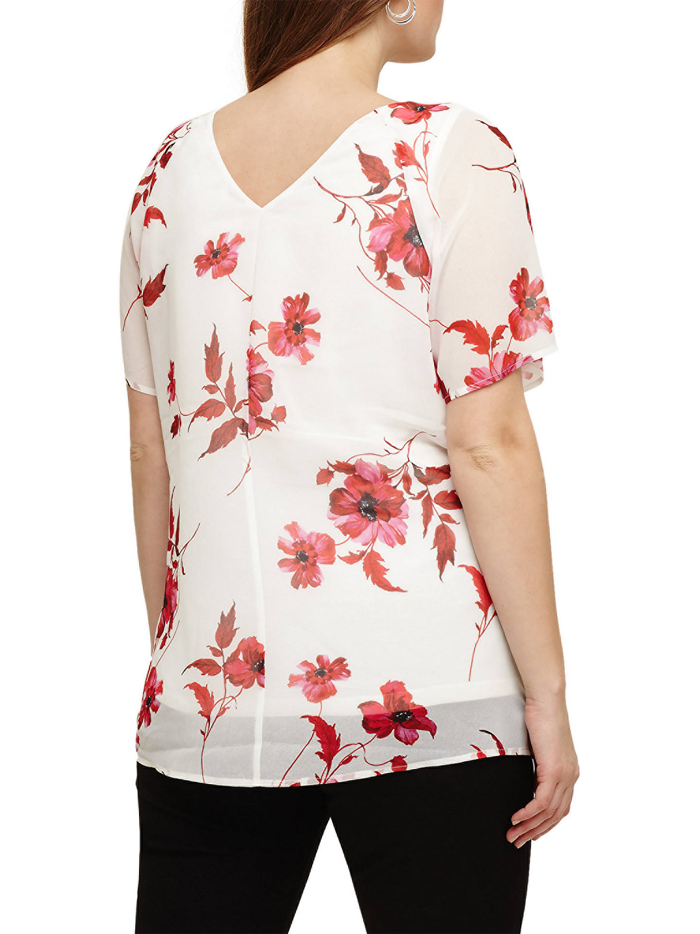 Buy Studio 8 Mia Floral Print Blouse, White/Multi, 16 Online at johnlewis.com