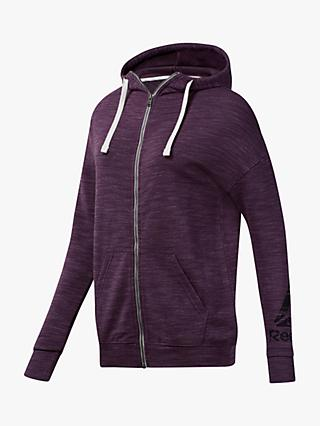 Reebok Training Essentials Marble Full Zip Hoodie, Urban Violet