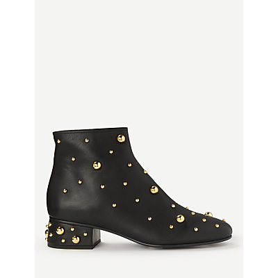 See By Chloé Block Heel Ankle Boots, Black Leather