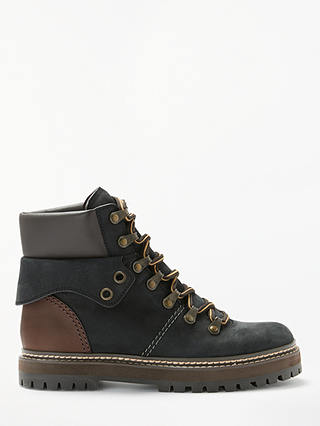 Buy See By Chloé Lace Up Ankle Boots, Dark Brown Suede, 4 Online at johnlewis.com