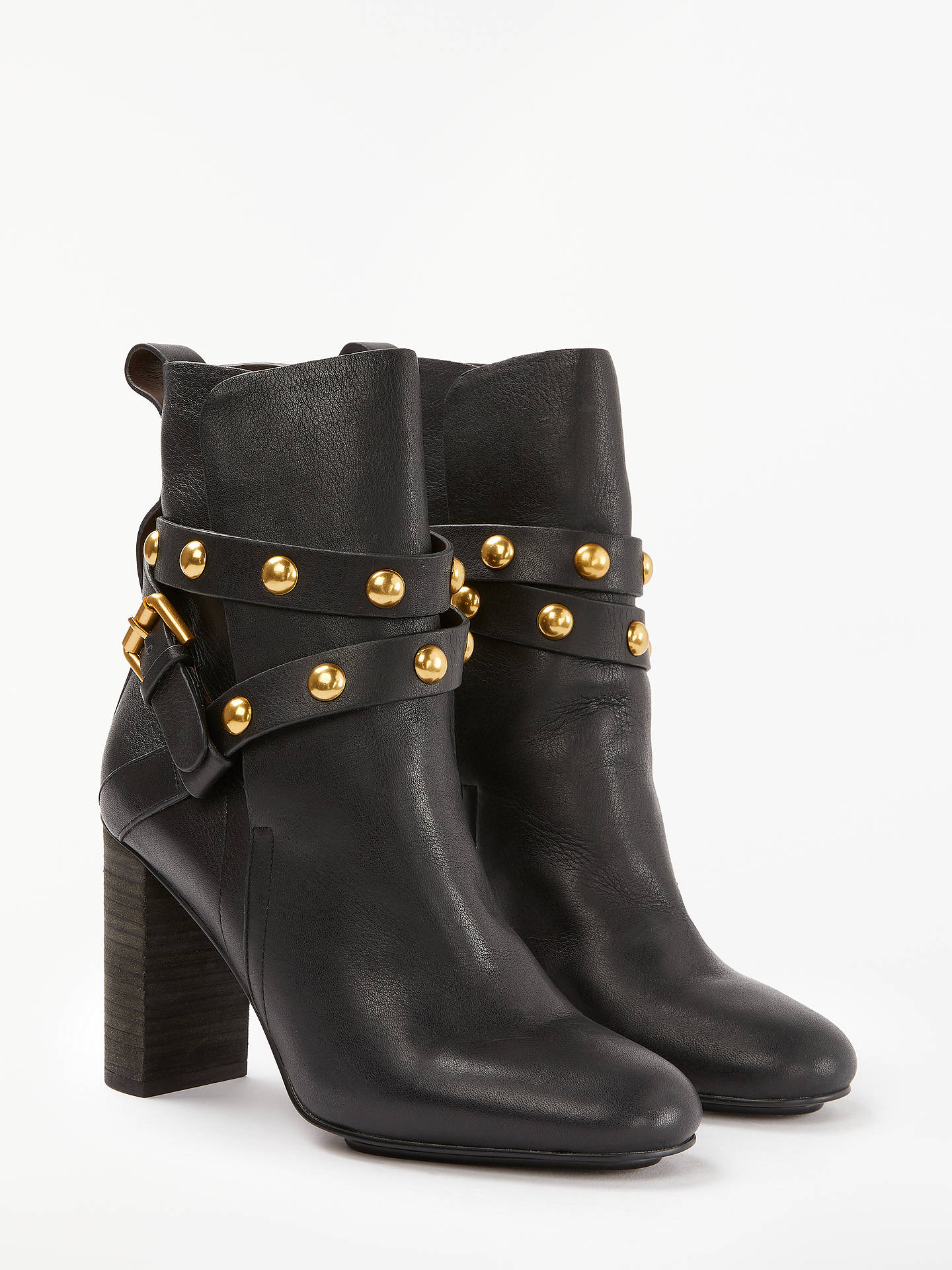 1bbb6bbafb69 ... Buy See By Chloé Stud Embellished Block Heel Ankle Boots
