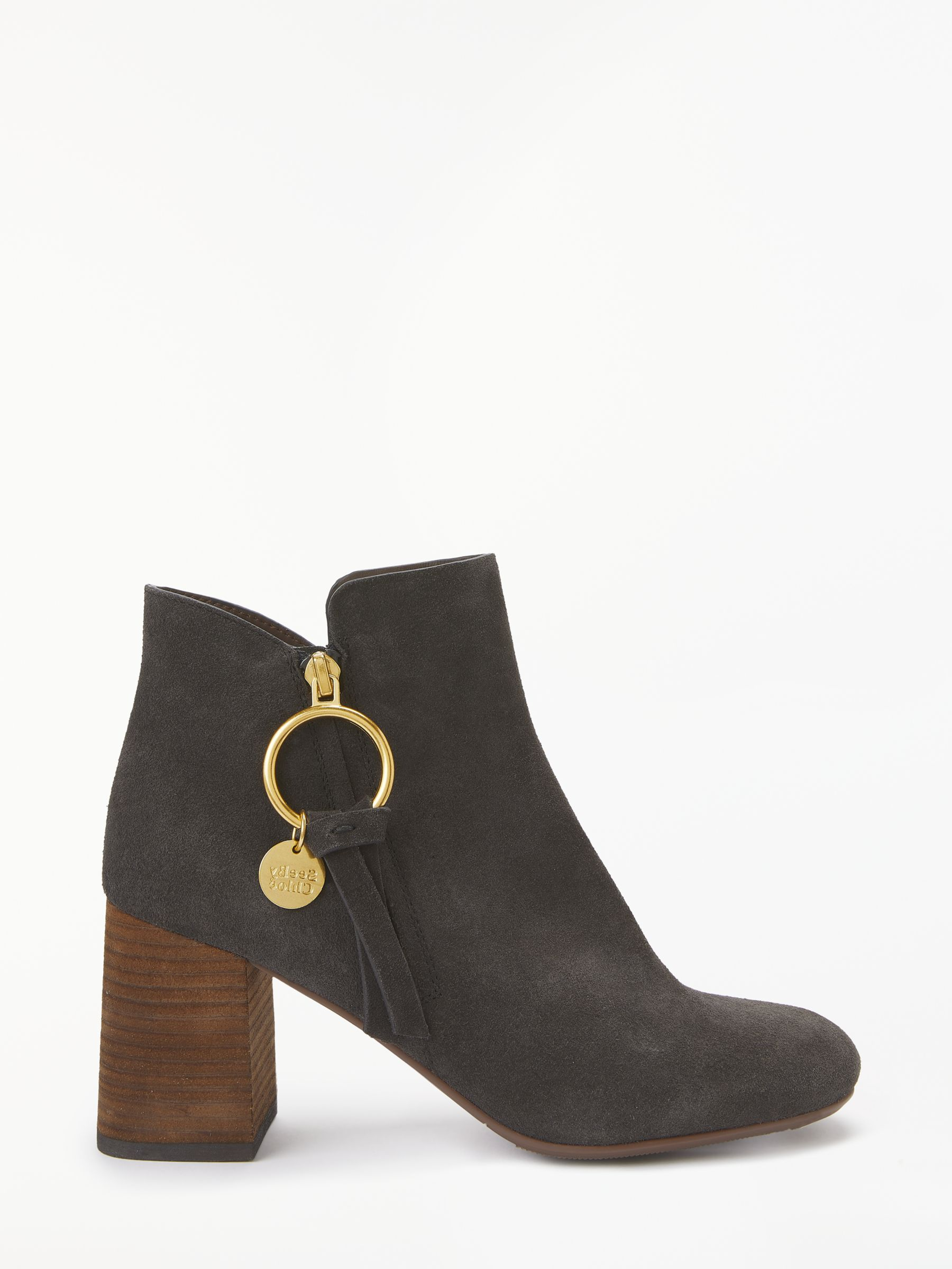 00a4a3a7c4 See By Chloé Block Heel Ankle Boots at John Lewis & Partners