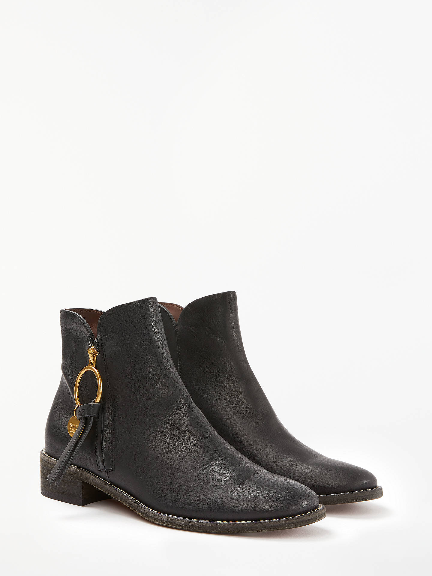 d3d80e491873 ... Buy See By Chloé Low Heel Ankle Boots